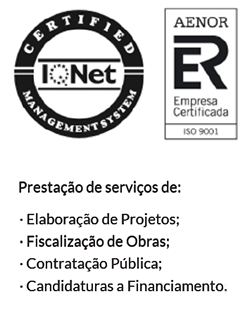Logotipos do IQNet e AENOR